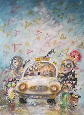 ORIGINAL A4 WATERCOLOr/ 'Taxi driver'.......