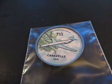 1961 JELL-O HOSTESS AIRPLANE SERIES COIN #118 1958 CARAVELLE  CANADIAN