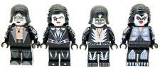 Custom Minifigures Kiss American Rock Band Members Printed on LEGO Parts