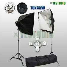 Photography Studio Softbox Continuous Lighting 5 Head Soft Box Light Stand Kit