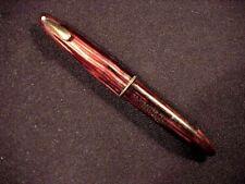 Sheaffer Sovereign Ii Tuckaway Triumph Pen, Carmine Striated, c'47