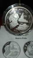 Münze 999er Silber, 155,5g, China, 50 Yuan, Marco Polo, 1993, PP mit Zertifikat!