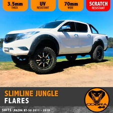 MAZDA BT50 2012-2017 SLIMLINE JUNGLE FENDER FLARES BLACK GUARDS AB PLASTIC