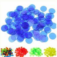 Round Opacification Transparent Coins 100 Pcs/ Set 19mm Poker Chips Plastic Game