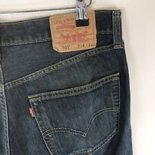 Levis 501 Stoned Washed Classic Blue Denim Jeans Size W34 x L32 Fast Shipping