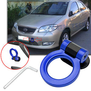 For Toyota Camry 86 Blue Racing Sporty Track Style Tow Hook Ring Look Decoration