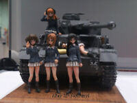 1/35 Girls & Tank Resin Model Kits Unpainted Figure GK Unassembled