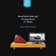 Renault Master Reversing Camera Brake Light & 7'' Monitor 2010 on Reverse Cam
