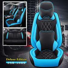 Deluxe 5D Car Seat Cover Microfiber Leather Full Set For Interior Accessories