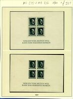 Germany 1937 Culture Fund sheetlets perforate sgMS635 UM and imperforate  Stamps