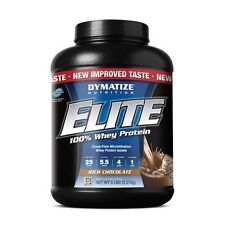 Dymatize Elite 100% Whey Protein 5lb, Chocolate, vanilla and cookies and cream