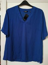 Ladies Blue Short Sleeved Top Size 12 Label Be