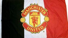 Manchester United Flag Banner Official Football Club Gifts Black / White / Red