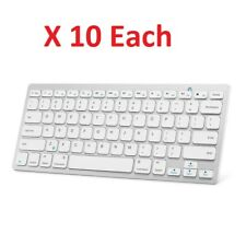 LOT OF 10 Anker Bluetooth Ultra-Slim Keyboard  White (A77726)™