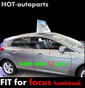 For Ford Focus Hatchback 2012-2015 Stainless Window Frame Sill Belt Cover Trim