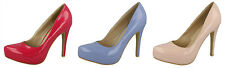 F9775- Ladies Anne Michelle Crinkle Court Shoes 3 Patent Colours- Great Price!