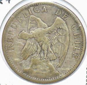 Chile 1924 Silver Peso Vulture animal 192006 combine shipping
