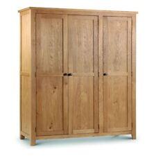 Marlborough Solid Oak Wood Traditional 3 Door Wardrobe Bedroom Storage