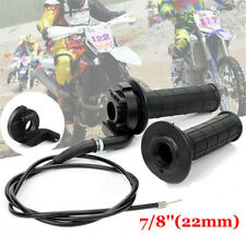 22mm Twist Throttle Accelerator Handle Grips and Cable Set with Kill Switch for 50cc 110cc150cc 250cc Mini Bike Atv Quad Pit Bike Dirtbike