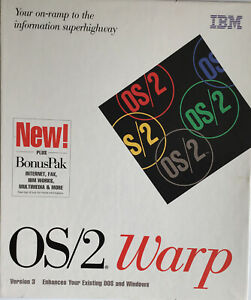 OS/2 Warp Version 3 Operating System Plus Bonus Pak Both CD's Are Shrink Wrapped