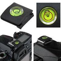 Flash Hot Shoe Cover Cap BUBBLE Spirit Level For Canon Nikon Olympus Camera
