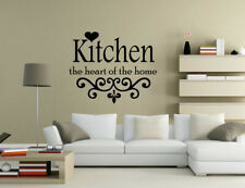 Kitchen the heart of the home Wall Quotes Wall Stickers Wall Art UK 32df