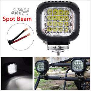 """DC10-30V 5"""" 48W 4800 LM LED White Car Motorcycle Working Driving Lamp Waterproof"""