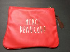 Merci Beaucoup  Zip Close Red Make up Travel Bag, Cosmetic Bag Brand New