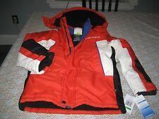 BOYS/GIRLS NAUTICA WINTER SNOW Jacket Size 7 ORANGE/WHITE/BLACK NWT