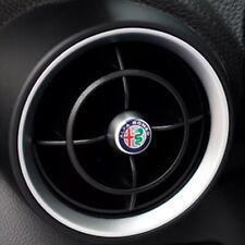 Coppia Logo bocchette aria condizionata Per Alfa Romeo Giulia Stelvio 2pz