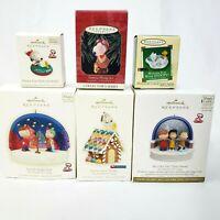 Lot of 6 Hallmark Keepsake Ornaments Peanuts Gang Snoopy Tweety More NIB