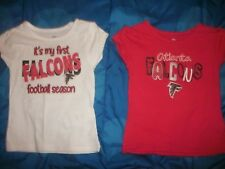 Lot of 2 Atlanta Falcons ~SHIRTS JERSEY ~ NFL Toddler Girl Size 2T (B101)
