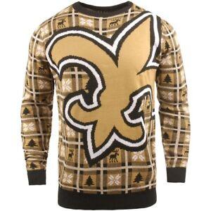 NFL Ugly Sweater New Orleans Saints Jumper Christmas Big Logo Football 18