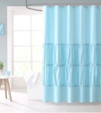 New Mi Zone Mirimar Ruched Teal Fabric Shower Curtain 72x72 Ruffles