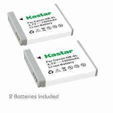 2x Kastar Battery for Canon NB-6L PowerShot SX510 HS SX520 HS SX530 HS SX540 HS