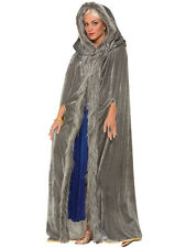 Ladies GAME OF THRONES Grigio Pelliccia Tagliata Mantello Medievale Costume Cape
