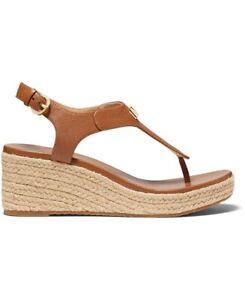 NEW Women's Michael Kors Laney Thong Espadrille Sandals BROWN size 7 NIB