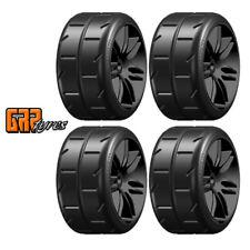GRP GWX02-S5 1:5 TC W02 REVO NEW S5 Soft Mounted Tires Black Wheel (4)