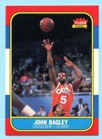 1986-87 Fleer Basketball John Bagley # 5 Cleveland Cavaliers