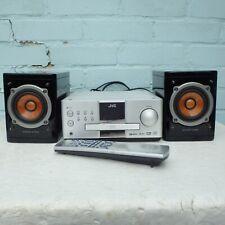 JVC CA-EXP1 Micro Hi-Fi DVD receptor SP-EXP1 altavoces de cono de madera negro piano