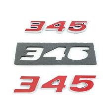 (2pc) Red 345 Badge Emblem Chrome Trim for Mopar Hemi Passenger & Driver Side