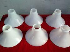 1 x Glas Lampenschirm weiß , Durchmesser 19,5 cm dünn