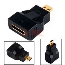 Mini HDMI Female to Micro HDMI Male Plug Adapter Connector Smartphone HDTV Sync