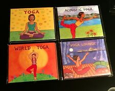 LOT 4 Putumayo CDs - Yoga, World Yoga, Acoustic Yoga & Yoga Lounge