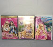 Barbie Dvd Lot (3) Fairytopia Rapunzel Princess Pauper