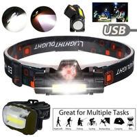 Waterproof USB Rechargeable LED Headlamp Headlight Head Lamp Torch Flashlight IL
