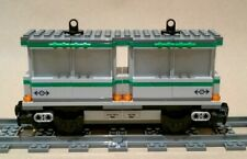 LEGO Train CUSTOM Carriage Dual Grey Container Flatbed Cargo Wagon 60198 60052