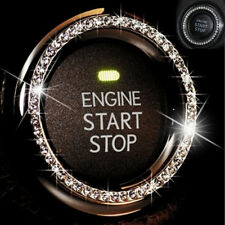 Silver Crystal Bling Car Interior Stop Start Ignition Button Keyhole Rhinestone