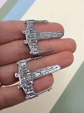 FREE GIFT BAG Mens Star Wars Ship Fighter Cufflinks Smart Cuff Links Jewellery
