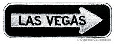 LAS VEGAS ROAD SIGN BIKER PATCH embroidered iron-on MOTORCYCLE VEST EMBLEM new